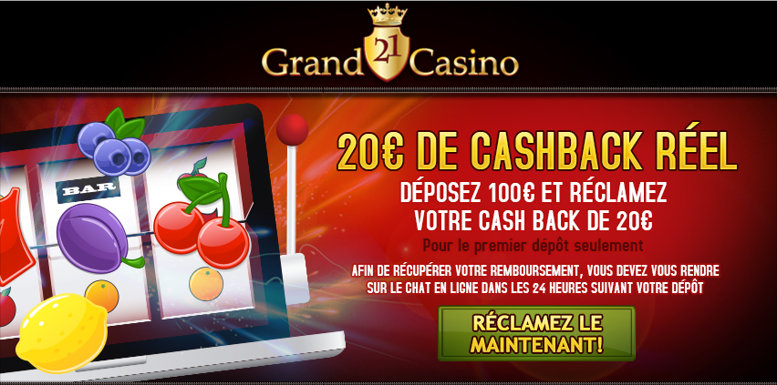 Grand21Casino cashbackreel