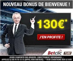 3. Betclic Hippique: 130€ de bonus